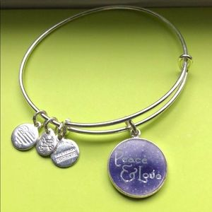 Alex and Ani charm Peace and Love charm bracelet